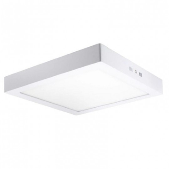 Plafón LED Superficie Cuadrado Blanco 20W 120º - IP20 Interior EuroStarLed